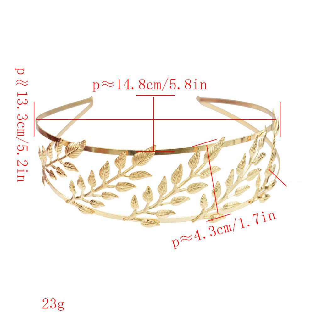 Fashion Gold Leaf Headband Bridal Hair Crown Hair Accessories for Wedding in Women 39 s Hair Accessories from Apparel Accessories