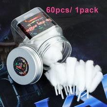 60 шт/1 упаковка Lvs легко курить хлопок DIY органический хлопок для RDA/RTDA Ремонтопригодный распылитель впитывающий Vape хлопок