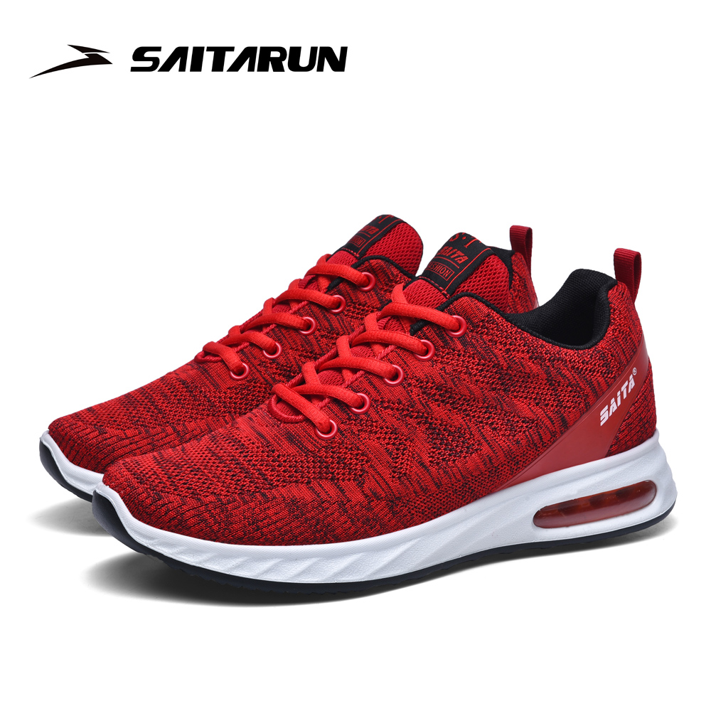 Saitarun 2020 New Outdoor Casual Shoes Men Shock-absorbing Sneakers Male Fashion Red Walking Non-slip Sport Shoe 40-46.5