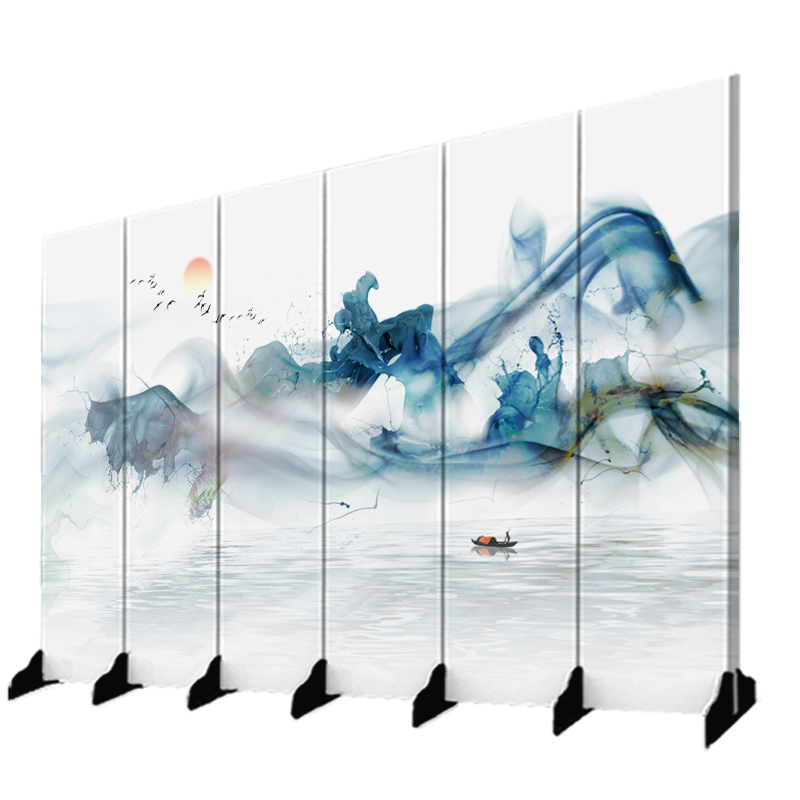 Screen partition Xuanguan fashion hotel bedroom simple office ink decoration folding fabric