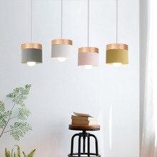 LED Wooden Colour Pendant Light Kitchen Dining Room Decoration Hanging Lamp E27 Living Room Indoor Lighting Cafe Oak Hang Lamps