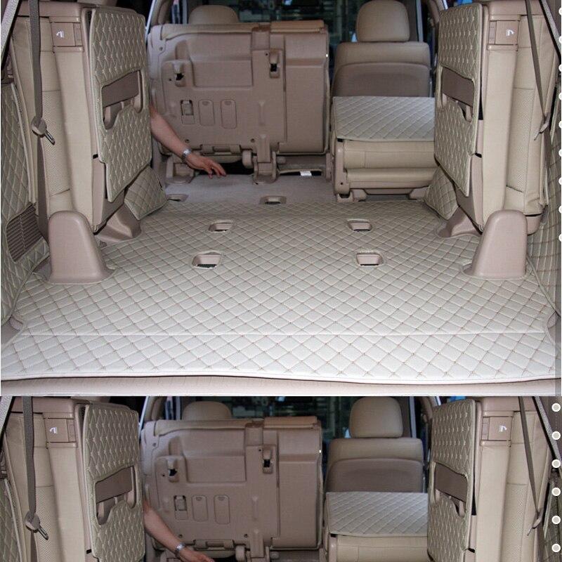 Автомобильные коврики для багажника Toyota Land Cruiser, водонепроницаемые коврики на 7 мест для Toyota LC200 -2007