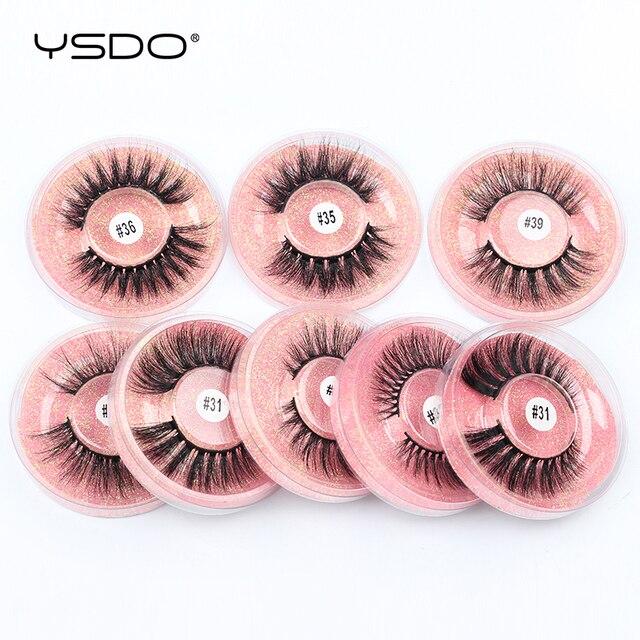 YSDO 1 Pair 3D Mink Eyelashes Cruelty Free Lashes Makeup Dramatic False EyeLashes Fluffy Full Strip maquiagem Lashes Faux Cils 3