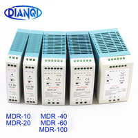 Din rail power supply switch MDR-10W 20W 40W 60W 100W 5V 12V 15V 24V 36V 48V output DIANQI Switching 5V 12V 15V 24V 36V 48V