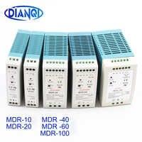 Din rail power versorgung schalter MDR-10W 20W 40W 60W 100W 5V 12V 15V 24V 36V 48V ausgang DIANQI Schalt 5V 12V 15V 24V 36V 48V