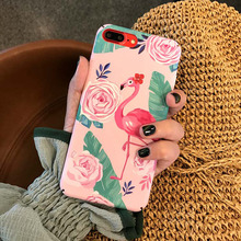 cute case for iPhone 6 6s 6Plus 6sPlus cover apple iphone 7 8 7Plus 8Plus X XS hard pc flamingo pattern women and girl