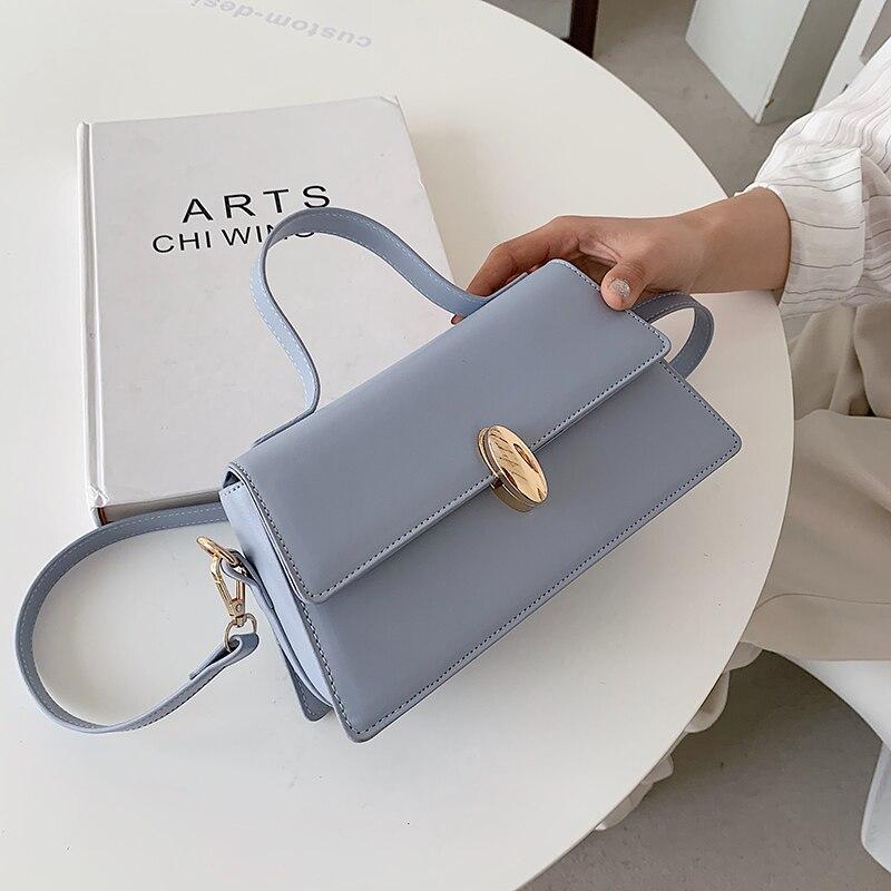 Высокое качество мягкой Водонепроницаемый сумка через плечо из искусственной кожи для женщин 2021 Дизайнерские однотонные Цвет новые модные...