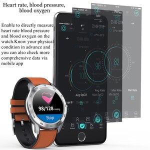 Image 4 - LYKRY DT98 שיחת Bluetooth חכם שעון מלא מסך מגע IP68 עמיד למים PPG קצב לב לחץ דם צג עבור xiaomi huawei