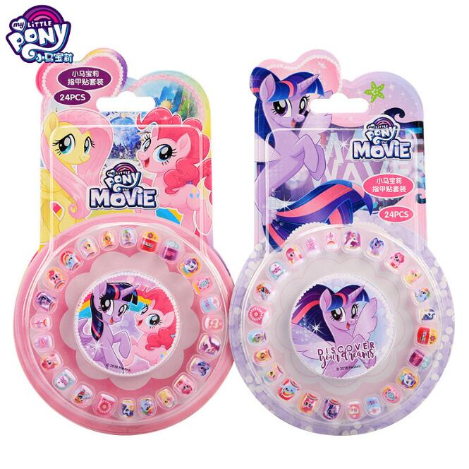 2019 New Genuine My Little Pony Makeup Children Toy Nail Stickers Princess Sophia Mickey Minnie Kids Earrings Sticker Toy Doll