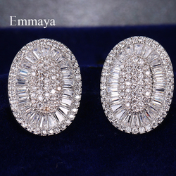 Emmaya Classic Style Round-shape With Differernt Geometry Cubic Zircon Earring For Women Simplicity Dress-up In Banquet Choice