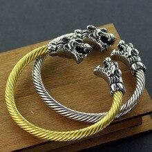 Wolf Brigade Bracelet Head Tiger  New Jewelry indian jewelry  open cuff bracelet  for men stunning rhinestoned tiger head shape bracelet for women