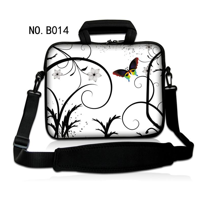 White Butterfly 7 10 12 13 15 17 17.3 Laptop Shoulder Bag Sleeve Pouch Bag Tablet Case Cover For 7 15.6 13.3 14 Dell HP ASUS