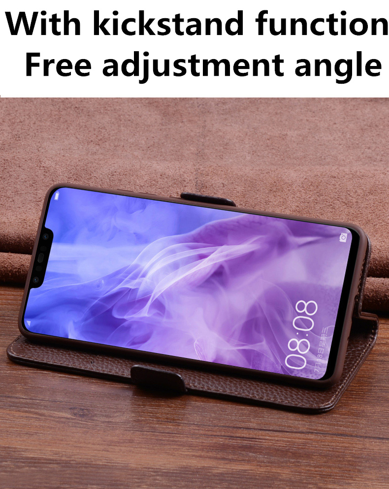 Image 2 - Business genuine leather side magnetic buckle wallet phone case  card holder for Samsung Galaxy A10 A30 A40 A50 A60 A70 phone bagFlip  Cases