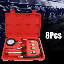 8 Sets Of Automobiles Professional Petrol Gas Engine Cylinder Compression Tester Gauge Kit Repair Device Hand Tool(China)