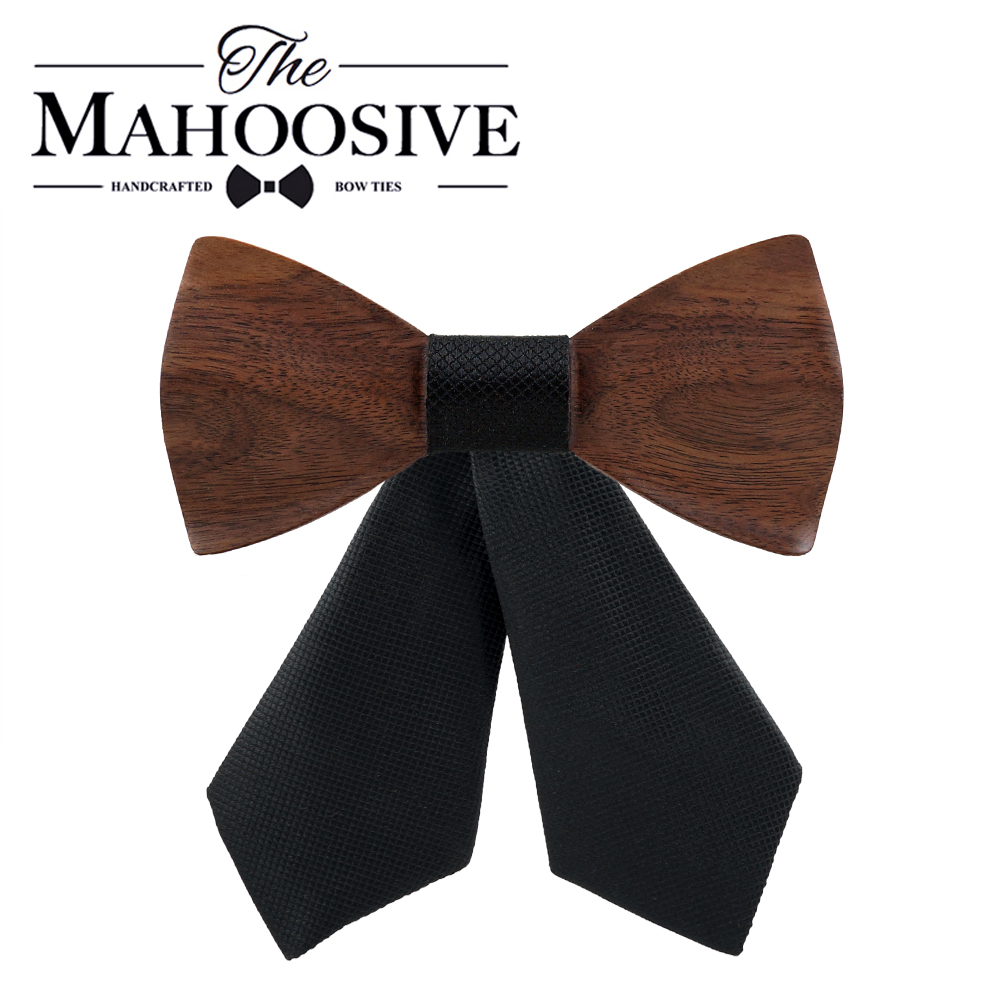 Handmade Wooden Cross Bow Ties For Women Grilfriend Gift Casual Tie Formal Dress Men Wedding Collar With Gift Box