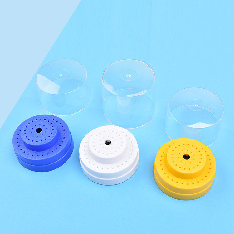 Dental Lab Instrument 60 Holes (Round) Holes Plastic Bur Holder Burs Block Case Box For Diamond Bur Holder