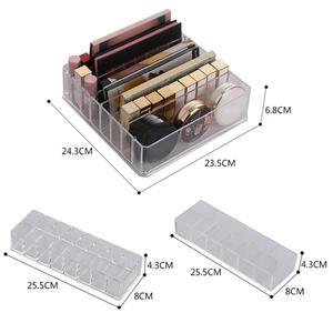 Image 5 - Caja de almacenamiento de organizador de maquillaje de acrílico transparente de 8 rejillas, caja de almacenamiento de maquillaje para mujeres, lápiz labial, sombra de ojos, soporte de exhibición, caja de almacenamiento de cosméticos