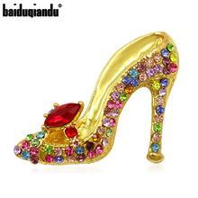 Multi-Colores cristal tacones altos con diamante de imitación zapatos broche Pins para mujeres