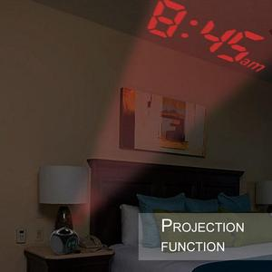 Image 4 - 2019 new LCD Projection Voice Talking alarm clock backlight Electronic Digital Projector Watch desk Temperature display