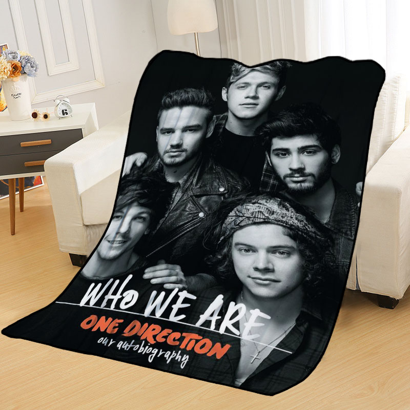 New Arrival One Direction Blankets Printing Soft Nap Blanket On Home/Sofa/Office Portable Travel Cover Blanket-1