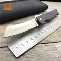 Cuchillo plegable LDT Twosun D2, cuchillo táctico con mango de fibra de carbono, cuchillo de supervivencia para acampar, herramientas de caza y exteriores