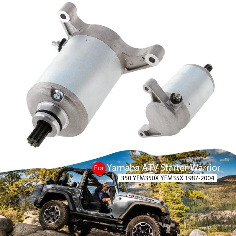 Motorcycle 9T Starter Motor For Yamaha Warrior 350 YFM350X Raptor 350 YFM350R Kodiak 400 YFM400 Big Bear 350 Etc ATV Accessories
