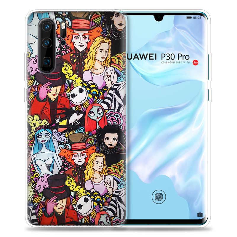 Pesadelo antes Do Natal Capa para Huawei P20 P30 P Z Inteligente Plus 2019 P10 P9 P8 Companheiro 30 10 20 lite Pro Sac Silicone Telefone Coque