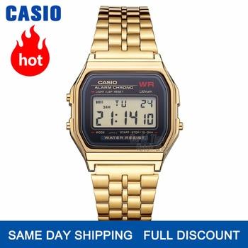 Casio assista homens relógio de ouro top marca de luxo led digital à prova d 'água de quartzo homens relógio esportivo militar relógio de pulso reloj hombre erkek kol saati montre homme zegarek meski A168WG-9
