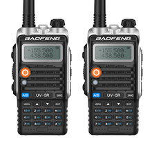 2PCS BAOFENG Walkie Talkie UV-5R PLUS Upadated version with Usb Charging and Clearer Voice two way radio