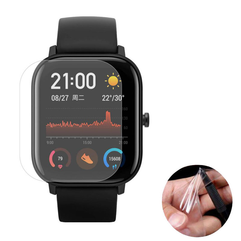3pcs Soft TPU Clear Smartwatch Protective Film Guard For Xiaomi Huami Amazfit GTS Sport Smart Watch Full Screen Protector Cover