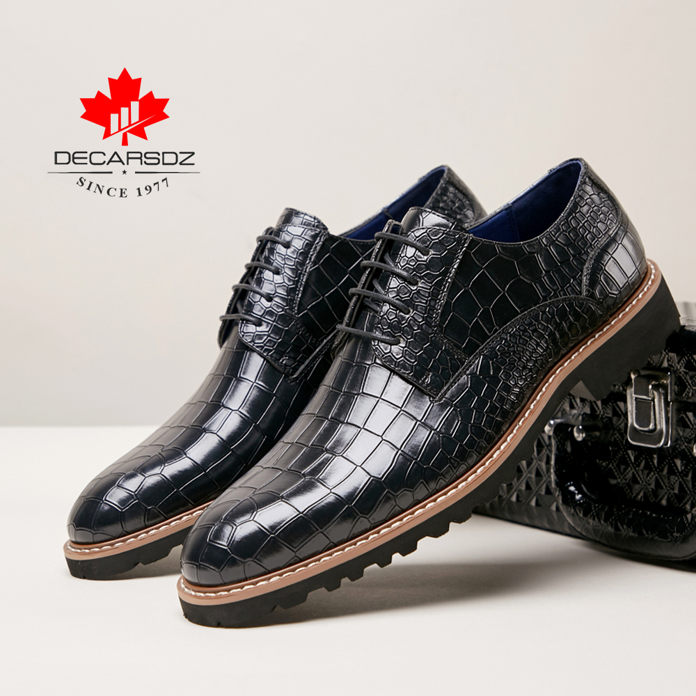 Pattern Leisure Office Shoes For Men