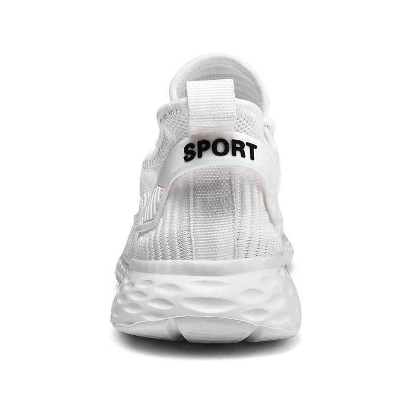 Nuevos zapatos de moda para hombre, zapatillas informales de malla transpirable, zapatos ligeros con cordones, zapatos cómodos para correr para hombre, Tenis, talla grande 48