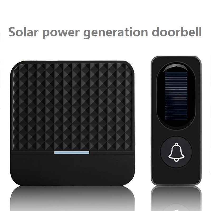 Wireless Doorbell Solar Low Power Home IP65 Waterproof 300M Door Bell Chime Outdoor Doorbells Solar Power Charging With Light