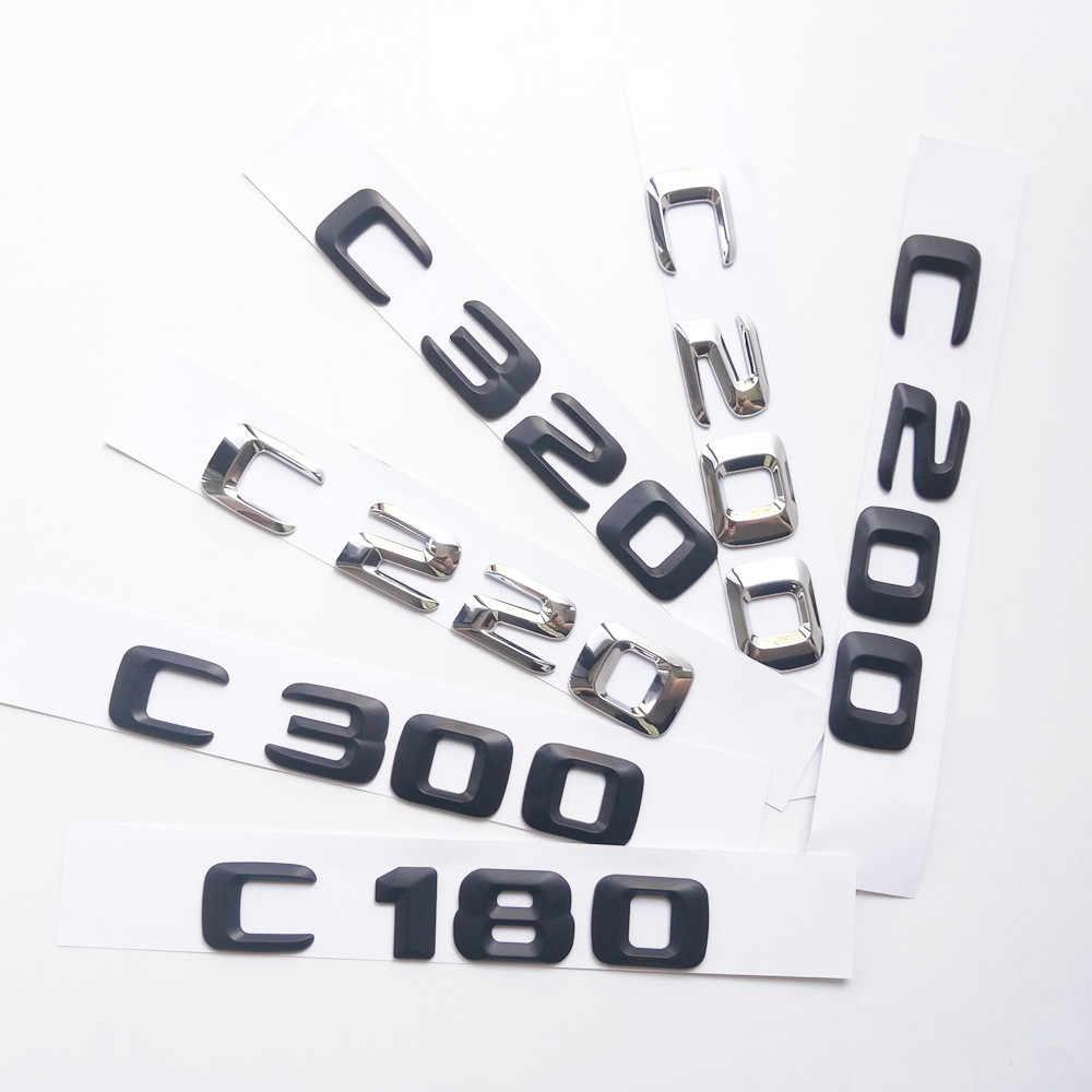 Emblema para maletero de coche letras C 200 Areyourshop para C200 CDI CGI Kompressor cromado