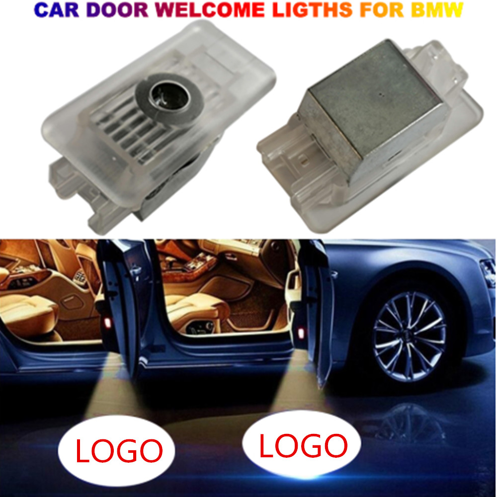 2pcs LED Car Door Welcome Lamp Laser Projector Logo Warning Light For BMW 3 Series M3 M5 M6 G20 BMW 3 2019 2020 M