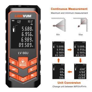 Image 3 - LOMVUM 66U Laser Rangefinder Digital Laser Tape Leveling Device 40M 80M 120M Ruler Instrument Build Measure Device Trena Laser