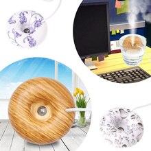 Mini Donut Ultrasonic Humidifier Blue And White Porcelain Aromatherapy Diffuser Mist Maker Fogger For Home Office Gift Light