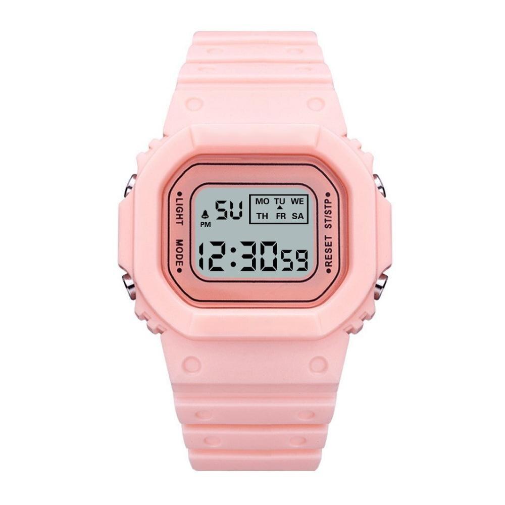 Цифровой Часы Для Детей Светодиод Световой Электронный Квадратный Циферблат Наручные Часы Женщины Мужчины Мальчики Девочки Дети Часы Подарки Montre Enfant