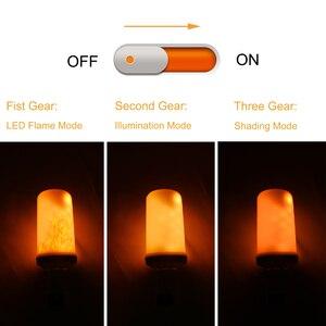 Image 3 - Modelo completo 3W 5W 7W 9W E27 E26 E14 E12 bombilla de llama 85 265V LED efecto llama bombillas de luz de fuego parpadeo emulación decorativa LED