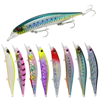 1Pcs Big Minnow Fishing Lure 13.5cm 17g Floating Wobbler Crankbait Trolling Artificial Hard Bait Pesca Sea Fishing Tackle 1pcs wobbler fishing lures15 5cm 16g artificial hard bait minnow crankbait swim bass trolling pike carp fishing tackle fish bait