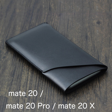 Double layer Universal Fillet holster Phone Straight leather case retro simple style For Huawei mate 20 Pro mate 20 X pouch 20X