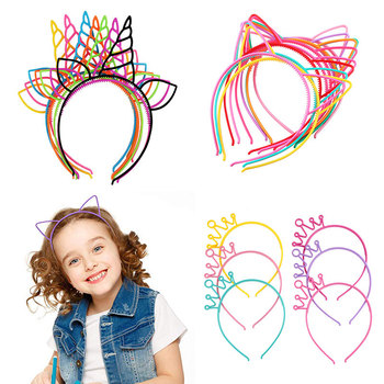 Candy Girl Plastic Unicorn Headband Lovely Letters Princess Hair Bands for Women Cat Hair Hoop Party Hair Accessories Headdress цена 2017