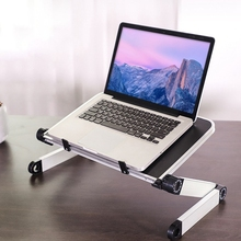 Alloy Laptop Stand Portable Foldable Adjustable Laptop Desk Computer Table Stand Tray Notebook PC Folding Desk computer desks portable adjustable foldable laptop notebook lap pc folding desk table vented stand bed tray school furniture
