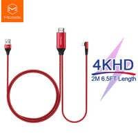 Mcdodo HDMI HD 4K câble USB pour iPhone X XR XS Max iPad vers HDMI TV adaptateur AV foudre vers HDMI convertisseur projecteur affichage HDTV