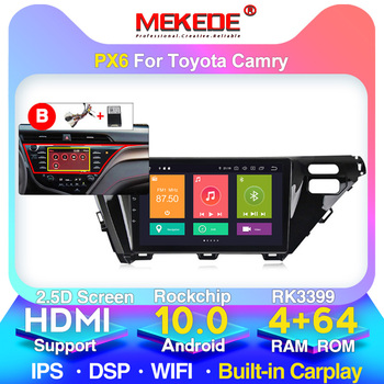 For Toyota Camry 8 XV 70 2017 2018 2019 Car Radio Multimedia Video Player Navigation GPS Android 10 No 2din 2 Din Dvd image