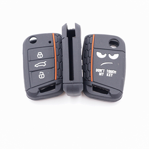 Image 2 - Xinyuexin Dont Touch My Key 3 Buttons Car Key Cover case For VW Golf 7 MK7 Seat 3 Ibiza  4 Arona Ateca Skoda Octavia