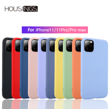 Silicone Solid Case For iPhone 11 Pro Max Candy Color Soft Fashion Cover XR Xs 7 8 Coque Plus