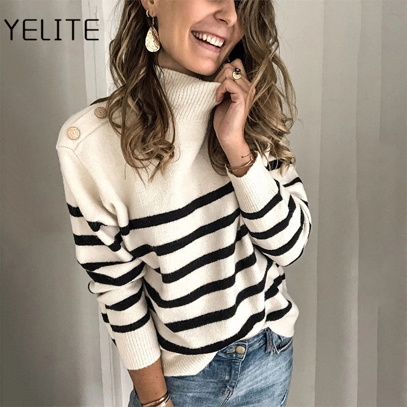 Sexy O-neck warm Patchwork Knitted Sweater Women Plus Size Long Sleeve Tops Pullover Fashion casual Winter Pull Sweaters Jumper