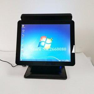 Image 5 - Tela lcd dupla de 15 polegadas, um painel de toque da máquina de registro de dinheiro para restaurantes e supermercados, tudo em um pos terminal do sistema