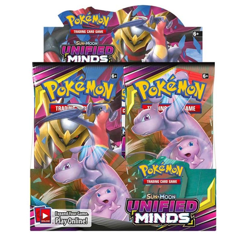 324pcs Card Pokemon TCG: Sun & Moon UNIFIED MINDS Sealed Box Collectible Trading Battle Pokemon Card Set Child Toys